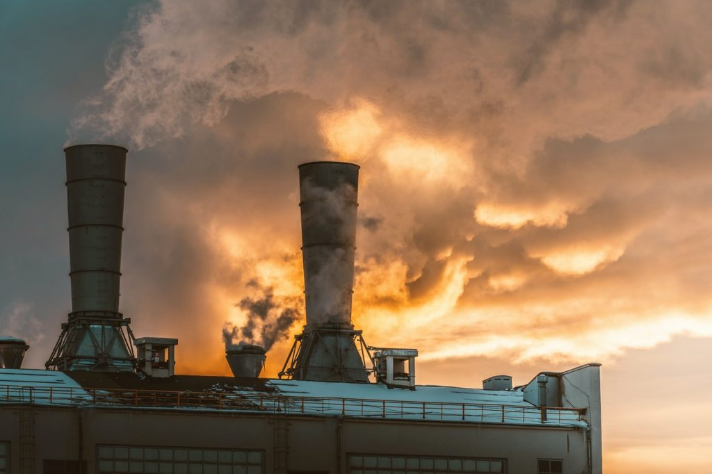 fossil fuel plant and co2 released